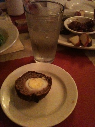 Scotch egg half