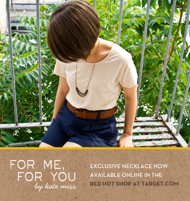 For Me, For You Exclusive Necklace for Target.com's Red Hot Shop