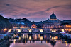 Fiumi nel cielo di Roma (the_lighter) Tags: bridge sunset rome roma river nikon san tramonto fiume violet ponte cupola tevere viola sanpietro hdr sera pietro riflesso crepuscolo d60 sanpeter bancarelle tonemapped scie penombra