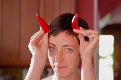 July 3: Janeen with Red Pepper Horns