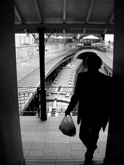 (Eleanna Kounoupa (Melissa)) Tags: blackandwhite woman trains athens greece stations monastiraki   blackwhitephotos    hccity