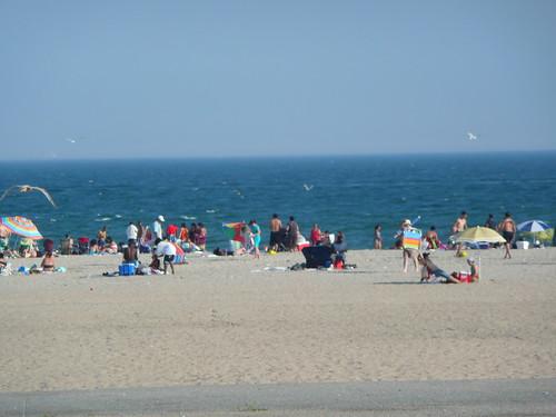 The beach at Ft. Tilden.