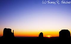 Monument Valley, Navajo Tribal Park (travelphotographer2003) Tags: arizona usa sunrise utah navajoland redrock monumentvalley reservation rockformation navajotribalpark themittens reddirtroad valleyoftherocks merrickbutte nativeamericanland thomasrfletcher tsebiingzisgaii naturalscenicbyway