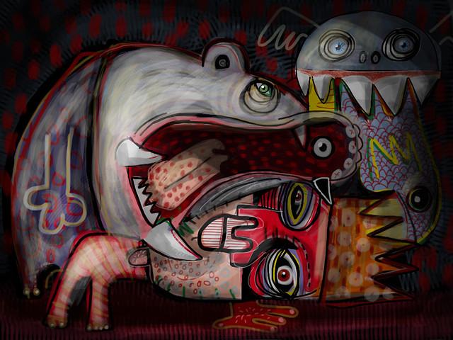 Hippo Bites Wrestler web