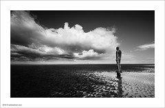Crosby Beach (Ian Bramham) Tags: bw beach landscape photography photo nikon fineart statues crosby antonygormley anotherplace d700 ianbramham 1635vr welcomeuk