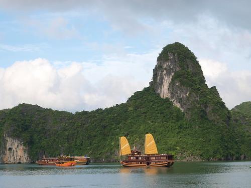 開雙帆的觀光船