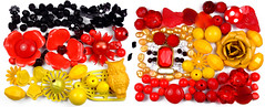 (FeeMail) Tags: germany spain soccer flags weltmeisterschaft wm pearls match material worldcup fusball