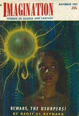 Imagination / 11-1951 (micky the pixel) Tags: sf ball energie goddess imagination sciencefiction pulp kugel malcomsmith zukunftsroman geoffstreynard bewaretheusurpers