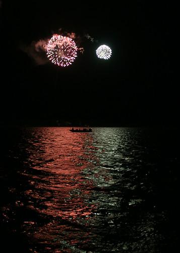 Cedar Key 4th of July Fireworks Taken from a Distance