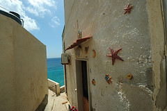 ITA-Levanzo-1005-15-v1 (anthonyasael) Tags: italy white building rock horizontal stone island star europe village hill decoration rocky structure ita sicily residential hilly appartment westerneurope seastar dwelling levanzo buildingexterior egadiislands aegadianislands