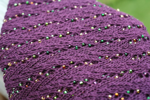 Beaded Linen Shawl
