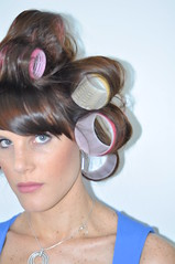 Whatcha doing (nils.rohwer) Tags: woman girl hair rollers highlight