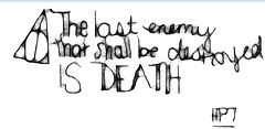 Obsession (impulsehopkins) Tags: quote text harry potter scribble hallows deathly