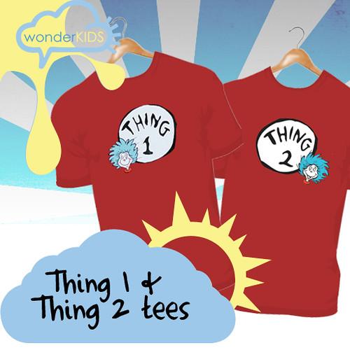 <(wonderkids)! thing 1 & 2 tees