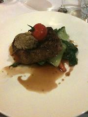 Lovely rare steak @thefalls