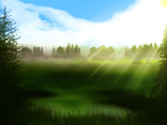 [Free Image] Graphics, Illustration, Scenery (Illustration), Grassland, 201007120100