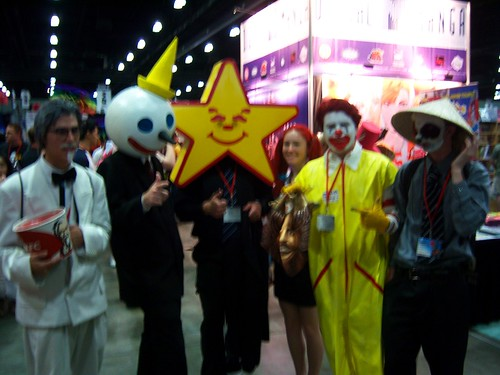 13 AX exhibit hall - fast food mascots