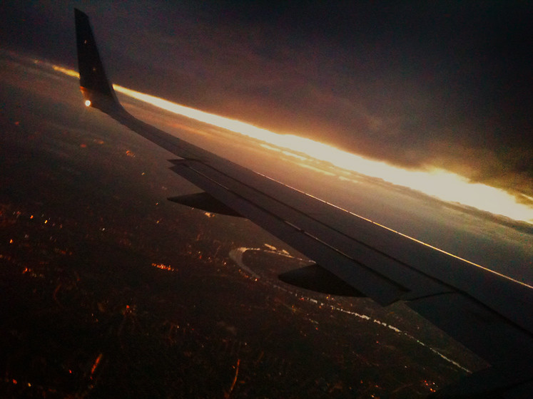 The Ash Cloud Cometh : Last Flight In  : London Heathrow on iPhone