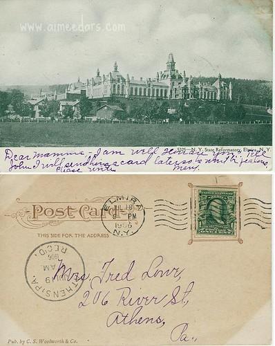 POSTCARD: NY State Reformatory - Elmira (1906)