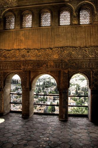 Alhambra archs. Granada. Arcos de la Alhambra.
