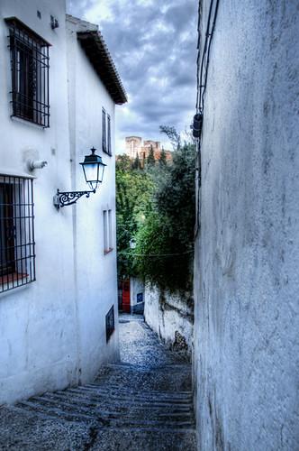 Albaicín street. Granada. Calle del Albaicín