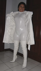 Flash (johnerly03) Tags: white asian boots coat philippines thigh filipina pvc erly