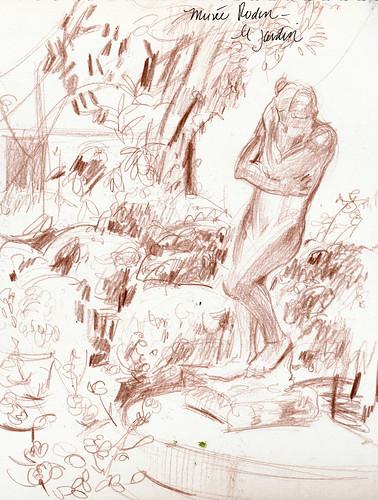 Paris: jardin, Musee Rodin corner