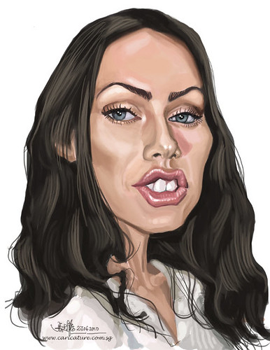 digital caricature of Megan Fox 2 - small