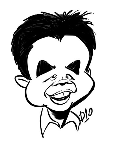My caricature by Diego Garcia
