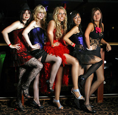 Girls (Elysia in Wonderland) Tags: birthday red party moulin rouge meghan erin stacy 18th theme themed elysia kariza