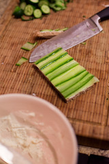 cucumber sandwich - open face style