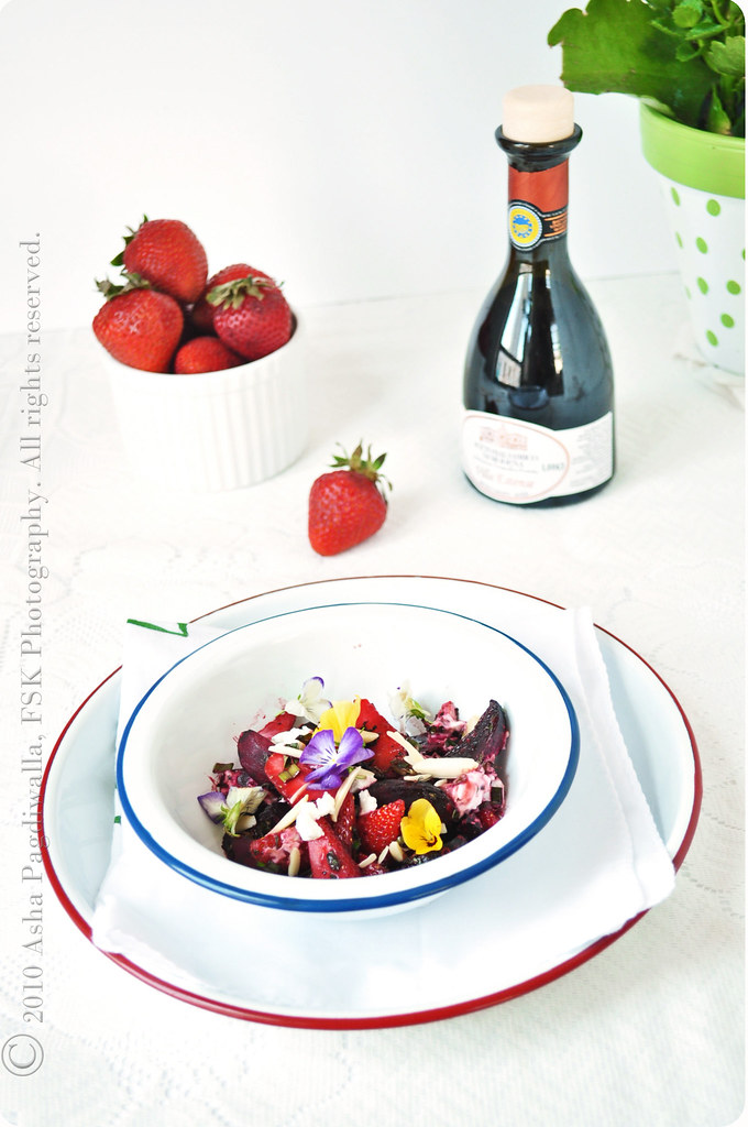 Herb Roasted Beet and Strawberry Salad