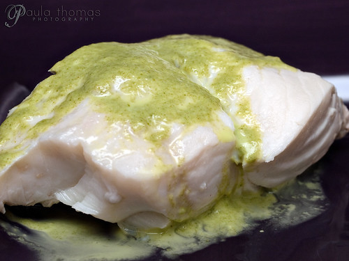 Poached Halibut with Tarragon Sauce