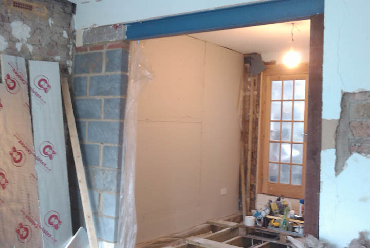 I Did The Wall Insulation In Two Stages. First I Did The Wall Which Would  Become Our Dining Room And I Took This Up To The Stage Of The First Layer  Of ...