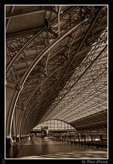 ..... (Steve's Photography :-)) Tags: uk roof london sepia canon steel empty structure trainstation stpancras hdr lightroom cashmachine eos300 coloumns photomatix adobecs3 steveclancy