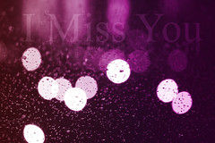 I Miss You (MJ ) Tags: pink windows white macro rain canon eos purple you bokeh miss f28 ef imissyou i 40d
