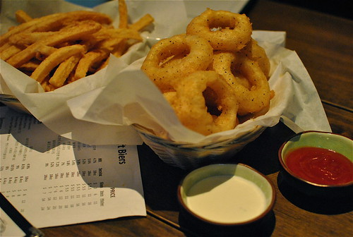 PBR Rings And Fries w: Chipotle Dipping Sauce