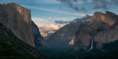 Timeless Valley (Nick Chill Photography) Tags: california travel sunset landscape photography nationalpark nikon image stock scenic panoramic valley yosemite halfdome cathedralrocks bridalveilfall d90 50mmf14g nickchill photocontesttnc10