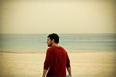 (Xiangk) Tags: ocean boy red summer man guy beach vintage sydney vignette