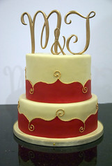indian wedding cake (www.fortheloveofcake.ca) Tags: redweddingcake indianweddingcake goldweddingcake torontoweddingcakes indianthemecake