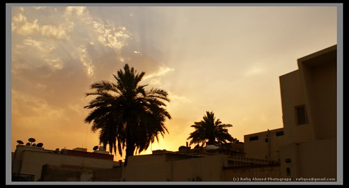 Peaceful sunset in Riyadh