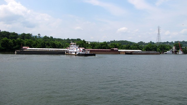 Barge in the Tennessee River