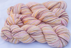15% sale- Threshing Floor Love on Bamboo Sock Yarn(...a time to dye)
