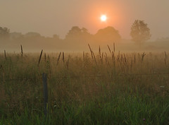 Foggy Sunrise (J-Parkes) Tags: morning fog sunrise james pentax pennsylvania jim pa clarion parkes da1855 k200d cloudsstormssunsetssunrises