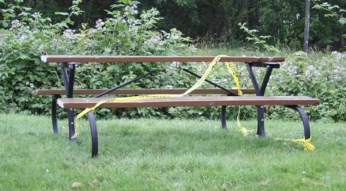 Bench Crime Scene