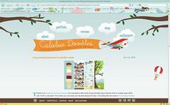 new website design at calobee doodles!