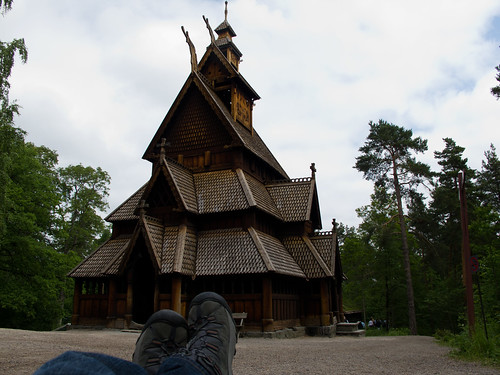 Wooden Church at the Oslo Cultural Museum - Oslo, Norway