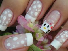 Unha da semana - Hello Kitty (Mhilka ♥) Tags: nail nailart unha esmalte francesinha decorada