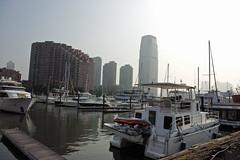 Liberty Tower (wck) Tags: marina boats jerseycity hudsonriver weddingvenue paulushook maritimeparc