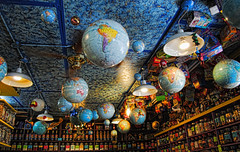 Ceiling of the Kensington Candy Store (Sally E J Hunter) Tags: toronto kensingtonmarket candystore globes moo1 topwkm